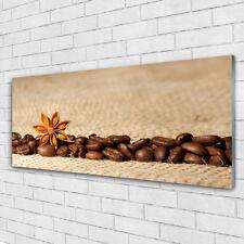 Impression sur verre Image tableaux 125x50 Cuisine Café En Grains