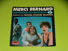 45 tours SP - MERCI BERNARD - GENERIQUE TV - FR3 - 1983