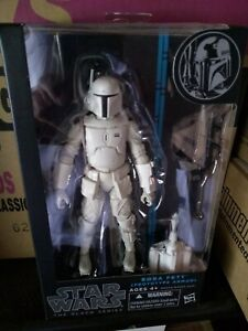 "Star Wars Black Series Prototype Boba Fett 6"" Figure White Walgreens Exclusive"