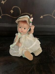 """Effanbee Composition Doll - Baby Tinyette 7"""" 2 Outfits Perfect"""