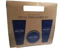 Aqua Fresh Body Prescriptions Total Mens Shower Kit Body Wash Shaving Cream 2in1