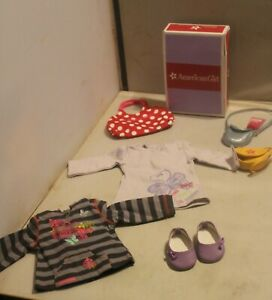 """American Girl Doll Shirt Top Purse and Beach Bag Lot 18"""" doll Size Clothing Acce"""
