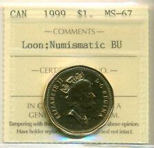 1999 Canada Loon Dollar NBU ICCS MS-67