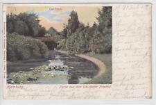 AK Hamburg, Ohlsdorfer Friedhof, Ost-Teich, 1902