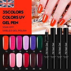 MAX One Step 3 in 1 Gel Nail Polish Pen Varnish Soak Off UV LED 5ml UK
