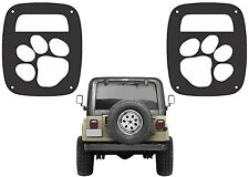 Dog Paw Tail Light Covers For 1985-2006 Jeep Wrangler New Free Shipping USA