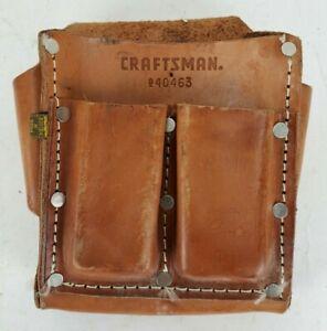 Vintage Craftsman 940463 Top Grain Cowhide Tool Pouch Sears Roebuck No Belt
