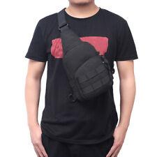 Mens Molle Tactical Sling Chest Bag Assault Pack Messenger Shoulder Bag Black