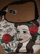 Nwt Beauty And The Beast Belle Crossbody Disney Roses Tattoo Hobo Tote Bag Purse