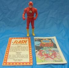 DC Super Powers The Flash Action Figure Complete Mini Comic Card Kenner 1984 VTG