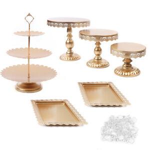 Tortenständer Kuchenständer Krapfen Hochzeitstorte Muffinständer 6x +Kristall