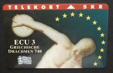 DENMARK - Discus Throw, ECU series/Greece, tirage 3000, 02/94, ANCIENT GREECE !!