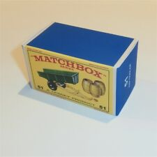 Matchbox Lesney 51 b Tipping Trailer empty Reproduction E style Box