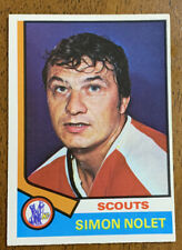 1974-75 o-Pee-Chee Hockey - #187 Simon Nolet - Kansas Ciudad Scouts