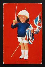 05 May 1915 WW1 Postcard Waiting For Daddy Ladbroke Road Notting Hill London W11