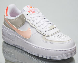 Nike Air Force 1 Low Shadow Women's White Crimson Tint Lifestyle Sneakers Shoes