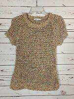 Cabi Women's S Small Cute Soft Short Sleeve Sheer Spring Summer Sweater Top $129