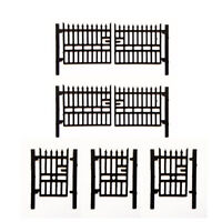 5 x LASER CUT WROUGHT IRON FACTORY GATES N GAUGE MODEL RAILWAY - LX008-N