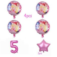 Barbie 7pcs Birthday Party Supplies foil Balloons Decorations.