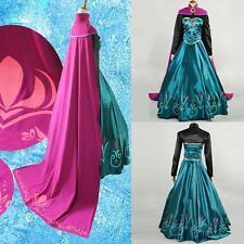 filles REINE DES NEIGES Elsa Couronnement Costume Princesse robes de soirée