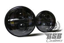 Fat BoB LED Hauptscheinwerfer, schwarz, Harley Davidson, FXDF