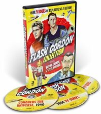 Flash Gordon Collection Buster Crabbe & Steve Holland (DVD, 3-Disc Set, 9+hours)