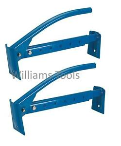 2 x Silverline Brick Tongs Lifters 40-67cm Adjustable 6-10 Bricks Clamp Carrier