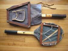 2 Antique Wood Tennis Racquets w/ Covers and Case - Rawlings and Wilson