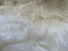 "Faux Fur Long Pile Fabric White Bears Hair Doll Collars Santa / 60"" Wide  BTY"