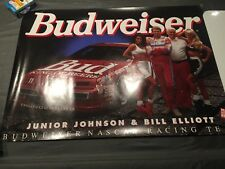 1994 BUDWEISER FORD NASCAR POSTER BILL ELLIOTT,JR. JOHNSON POSTER WITH BUD GIRLS
