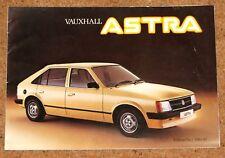 1981-82 VAUXHALL ASTRA Sales Brochure - Saloon Hatch Estate 1200 1300 1600
