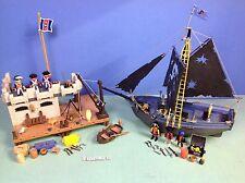 (O3112.8) playmobil lot pirates île + bâteau ref 3112 3860