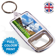 Eiffel Tower Paris France Souvenir Photo Gift Bottle Opener Keyring Key Fob