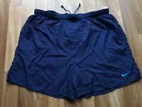 Nike Vtg 90s Running Shorts Mesh Lined Embroidered Swoosh Big Logo Sz XL