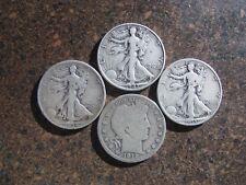 1912 1934 S  1935 S 1947 Walking Liberty Half Dollar 90% Silver Coin Junk Scrap