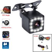12-LED Light  Night Vison Car Backup Camera 170° Wide angle Parking View Camera