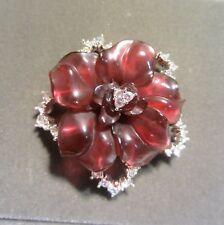 The  Nolan Miller Glamour Collection flower pin / box / COA
