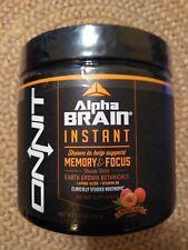 Alpha Brain Instant Memory & Focus ONNIT 3.8oz 108g Powder Peach Flavor