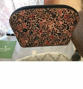 Kate Spade Sylvia Small Wild Flower Cosmetics Case Make-up Bag Pouch NWT