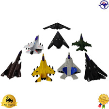 Diecast 8/Set Jet Fighter Planes Collectable New Army Style F-16N F-22 F-8M New