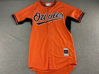 Baltimore Orioles Jersey Majestic 42 Long Cool Base Orange Black Baseball shirt