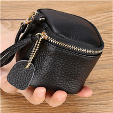 Women's Fashion Genuine Leather Cosmetic Case Cowhide Makeup Pouch Lipstick Bag