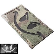 Evil Smiley IR infrared multicam morale reflective tactical 3 laser hook patch