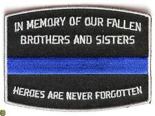 FALLEN POLICE OFFICER MEMORIAL - IRON or SEW-ON PATCH