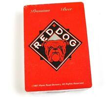 Red DOG PREMIUM BEER BIRRA carte da gioco carte USA gioco di carte Cane Bulldog Francese