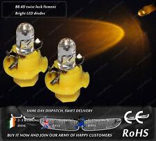 LED Cap B8.4D Amber Yellow Orange Cluster Speedometer Instrument Light Bulbs