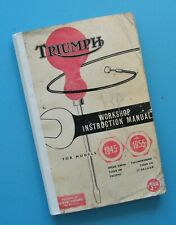 1945-55 Triumph 6T 5T TR5 T110 3T T100  Motorcycle Service Manual Book