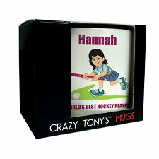 Personalised Hockey Gifts For Ladies And Girls, Personalised Ladies Hockey Mug