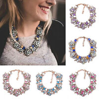 Women Luxury Diamond Choker Rhinestone Fashion Necklace Jewelry Gift