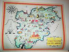 '50 vecchia cartina TRENTINO MERANO TRENTO BOLZANO DOBBIACO BRUNICO SIUSI SOLDA
